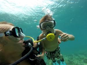 baptême de plongée sous marine